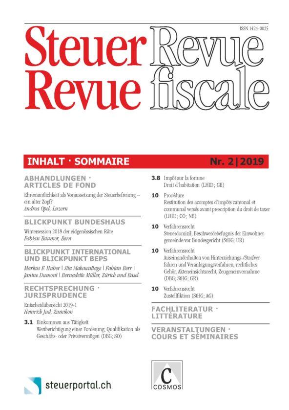 Steuer Revue 2/2019
