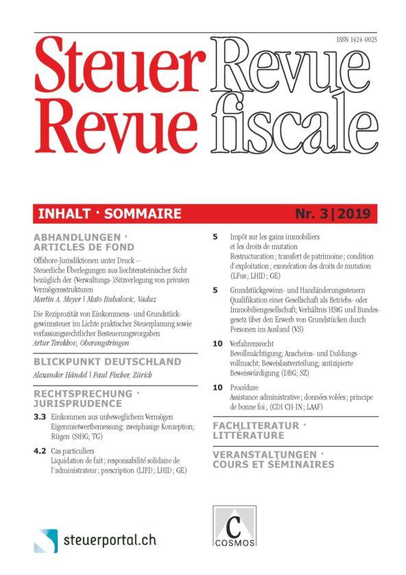 Steuer Revue 3/2019