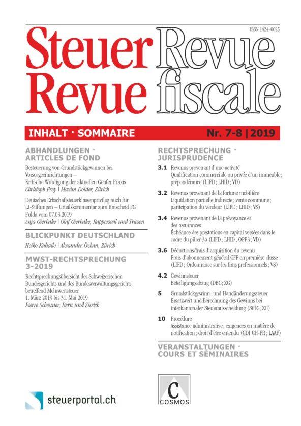 Steuer Revue 7-8/2019