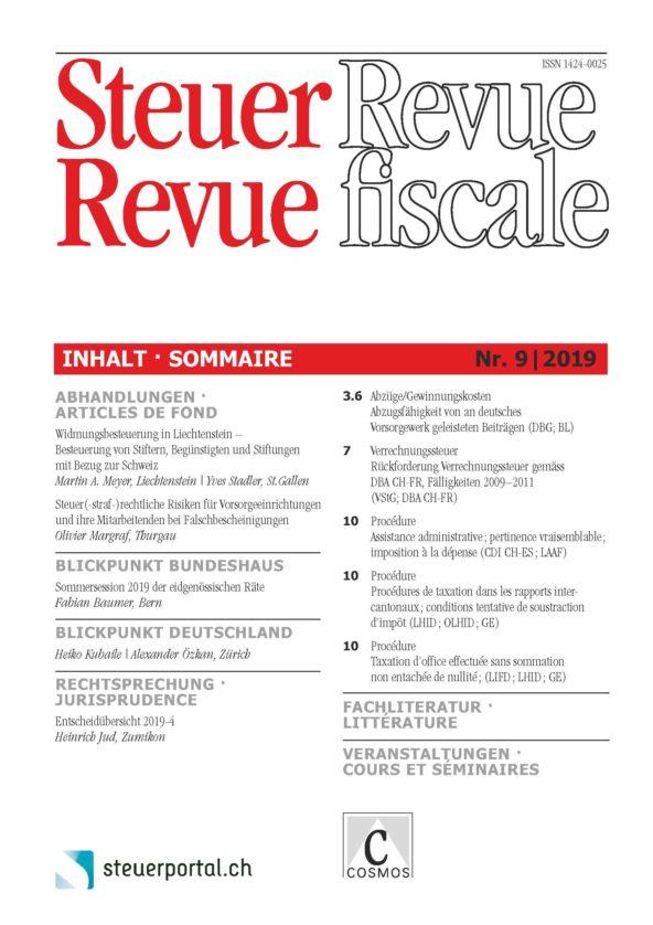 Steuer Revue 9/2019