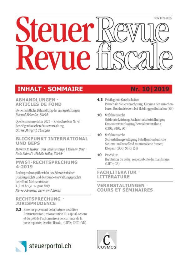 Steuer Revue 10/2019