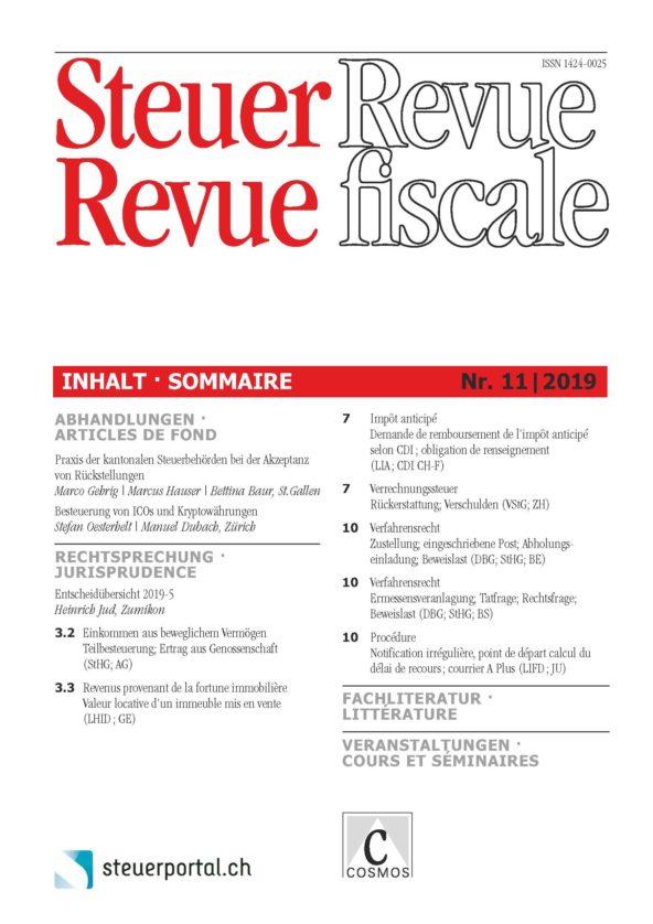 Steuer Revue 11/2019
