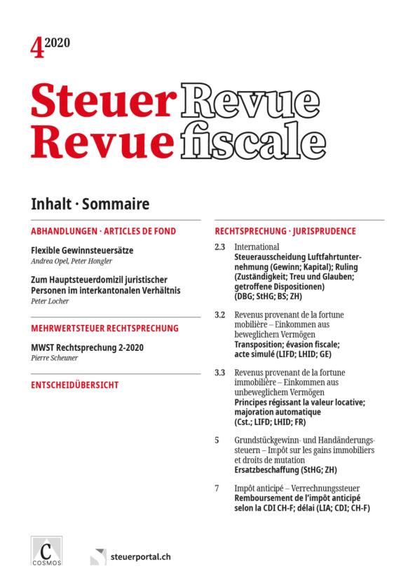 Steuer Revue 4/2020