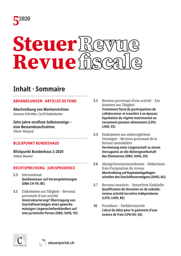 Cover Steuer Revue 5/2020